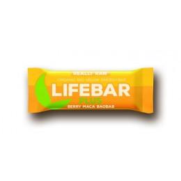 Lifebar plus třešňová s macou a baobabem BIO 47 g