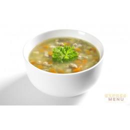 Hovězí polévka s játrovou rýží 1 porce Expres Menu