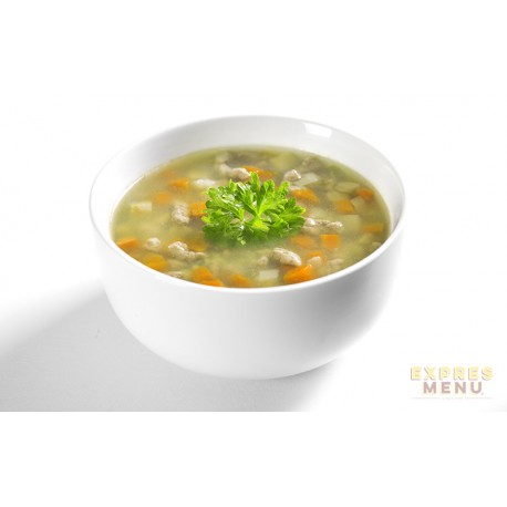 Hovězí polévka s játrovou rýží 2 porce Expres Menu
