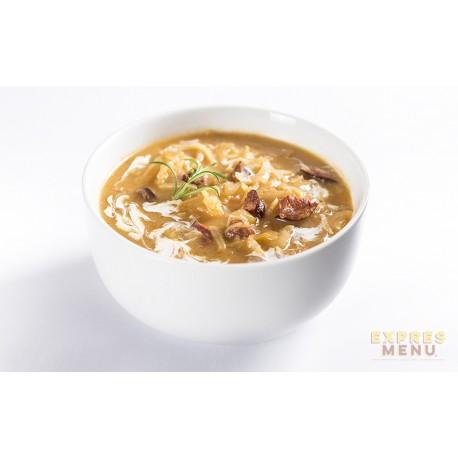 Zelná polévka s klobásou 2 porce Expres Menu