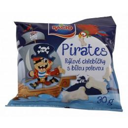 Pirates Rýž.chleb.s bílou pol. jog.přích.30g RACIO