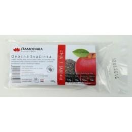 OVOCNÁ SVAČINKA s křupinkami chia s jablky 60g DAMODARA