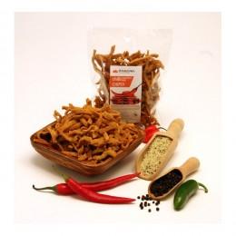 Luštěninové chipsy s chilli papričkou a konopným semínkem 100g DAMODARA