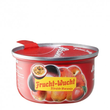 Ovocné pyré z jablek, broskve, maracuji, bez cukru, 110g