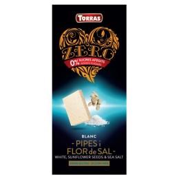 Bílá čokoláda se slunečnicí, mořskou solí a sladidlem 125g TORRAS