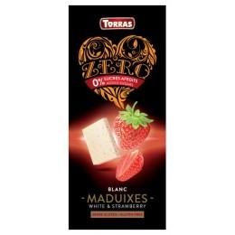 Bílá čokoláda s jahodami a sladidlem 125g TORRAS