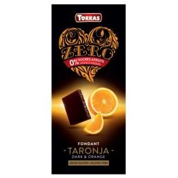 Hořká čokoláda s pomerančem a sladidlem 125g ZERO TORRAS