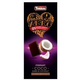 Hořká čokoláda s kokosem a sladidlem 125g TORRAS