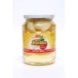 Kompot jablka dělená se sladidlem 560 g Alibona