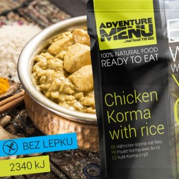 Kuře Korma s rýží 400g ADVENTURE MENU bez lepku