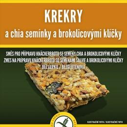 Krekry s chia semínky a brokolicovými klíčky 250g ADVENI