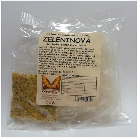 Instantní nudlová polévka - zeleninová bez lepku 60g NATURAL