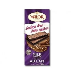 Mléčná čokoláda bez laktózy 100g Valor