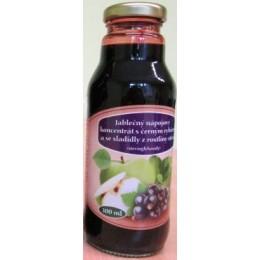 Jablečný nápojový koncentrát s černým rybízem se stévií 300 ml