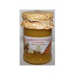 Pomerančová marmeláda se zázvorem slazená medem 275g Kvasnicka