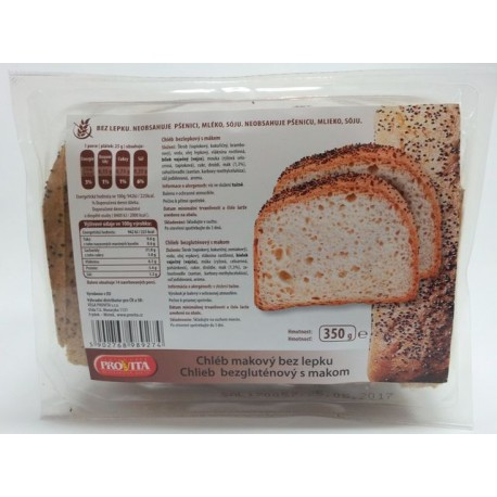 Chléb bez lepku s mákem 350g PROVITA