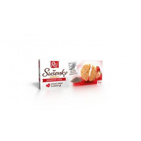 Sušenky jahodové s chia 120g REJ