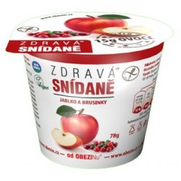 Zdravá snídaně jablko a brusinky 78g bez lepku