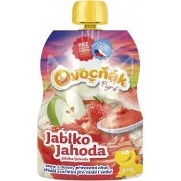 Pyré Jablko - jahoda 100% bez přidaného cukru 120g Ovocňák