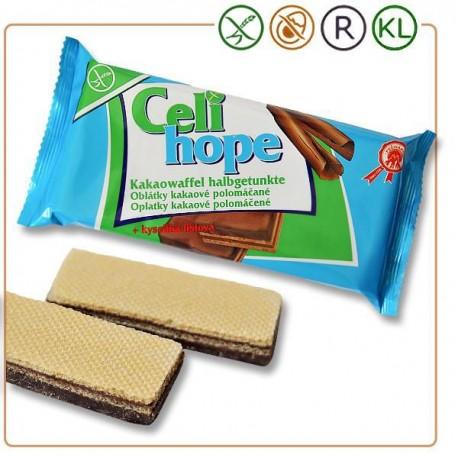 Oplatky kakaové polomáčené 100 g Celi Hope