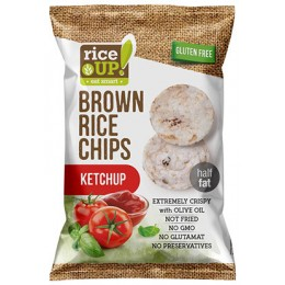 Rýžové chipsy s kečupem 60g RICE UP