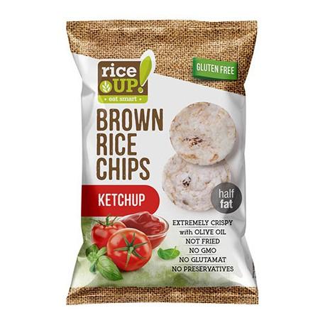 Rýžové chipsy s kečupem 60g RICE UP