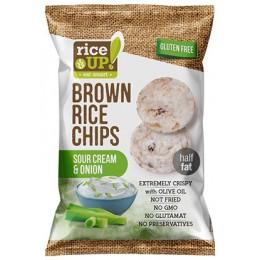 Rýžové chipsy smetana s cibulí 60g RICE UP