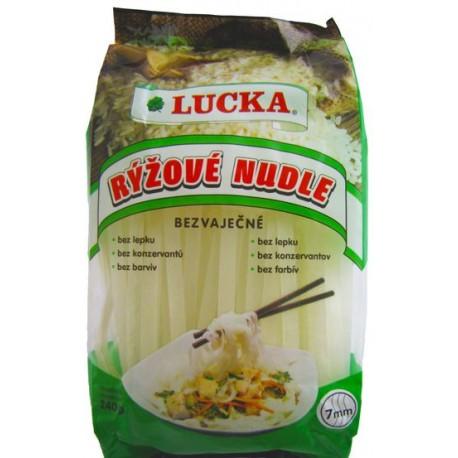 Rýžové těstoviny - nudle 7mm 300g LUCKA.