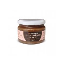 100% lískooříškové máslo Nutspread s kakaem 250 g