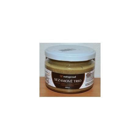 100% oříškové máslo Sezamové Trio: Sezam - kešu - vlašský ořech 250 g Nutspread
