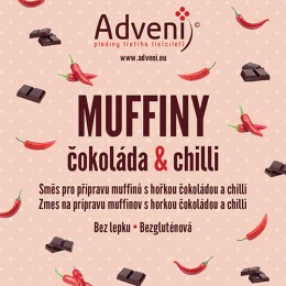 Muffiny čokoláda & chilli 280g ADVENI