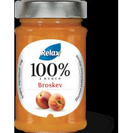 Relax 100% z ovoce Broskev bez přidaného cukru 220g