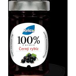 Relax 100% z ovoce Černý rybíz bez přidaného cukru 220g