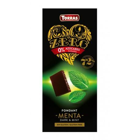 Hořká čokoláda s mátou bez cukru 100g ZERO TORRAS