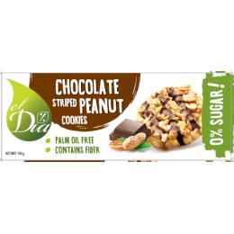 Sušenky BEZ CUKRU s arašidy a čokoladou 150 g EL DIA