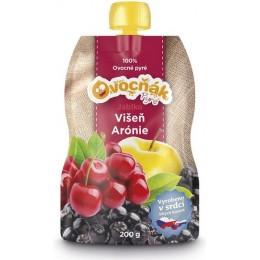 Pyré Jablko - Višeň - Arónie 100% bez přidaného cukru 200g Ovocňák