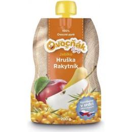 Pyré Jablko - Hruška - Rakytník 100% bez přidaného cukru 200g Ovocňák