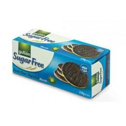 Dark Choc digestive 270g - oplatky bez cukru s čokoládou Gullon