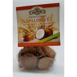 Špaldové sušenky se skořicí a kokosem bez přidaného cukru 200g Madhuri
