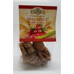 Špaldové sušenky s brusinkou bez přidaného cukru 200g Madhuri
