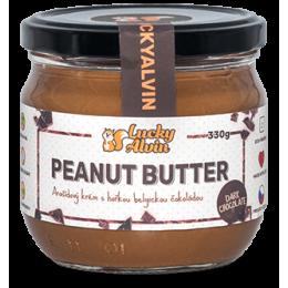 Arašídové máslo s tmavou belgickou čokoládou bez cukru 330g Lucky Alvin
