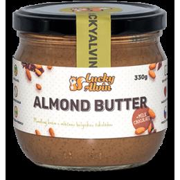 Mandlové máslo s mléčnou belgickou čokoládou bez cukru 330g Lucky Alvin