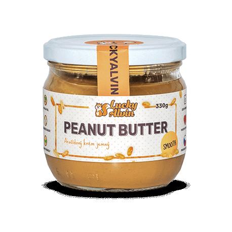 Arašídové máslo bez cukru 330g Lucky Alvin