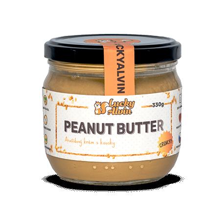 Arašídové máslo křupavé bez cukru 330g Lucky Alvin
