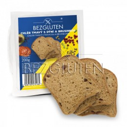 Chléb tmavý s dýní a brusinkou, bez lepku, 200g SUPERFOODS BEZGLUTEN