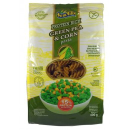 Těstoviny ze zeleného hrášku a kukuřice - Vřetena 400g SamMills