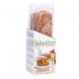 Bageta rajčatová k dopékání BL, 360g (Ciabatta Tomato) Bio Schnitzer