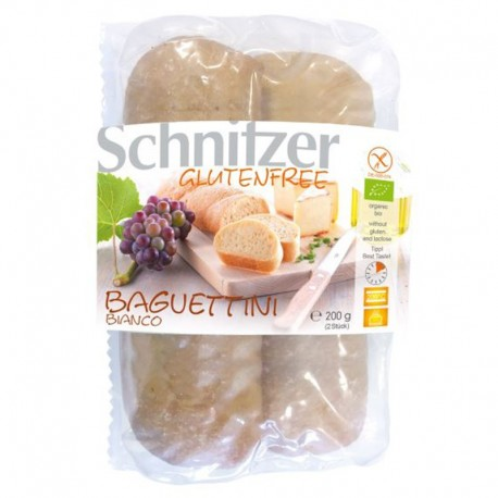 Bagetky bílé k dopékání BL, k dopékání 200g (2x Bague) Bio SCHNITZER