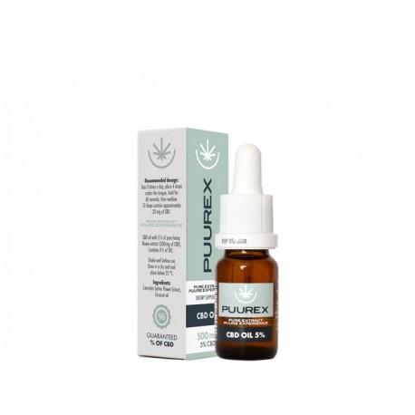 CBD olej 5% 500 mg 10 ml PUUREX