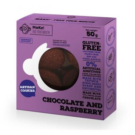 Čokoládovo-malinové sušenky 50g bez lepku MaKe PREMIUM